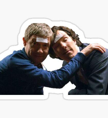Drunk John and Drunk Sherlock Sticker