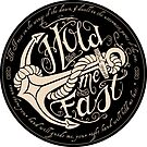 Hold Me Fast (sticker - black) by MiniMoose