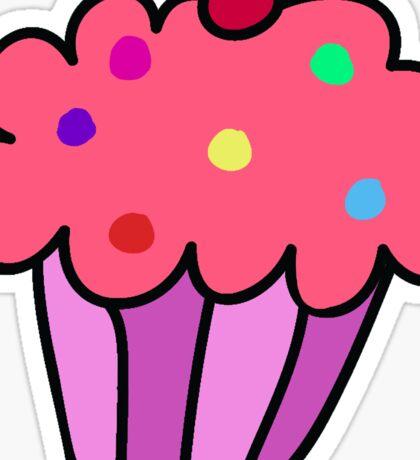 Pink Cupcake Sticker