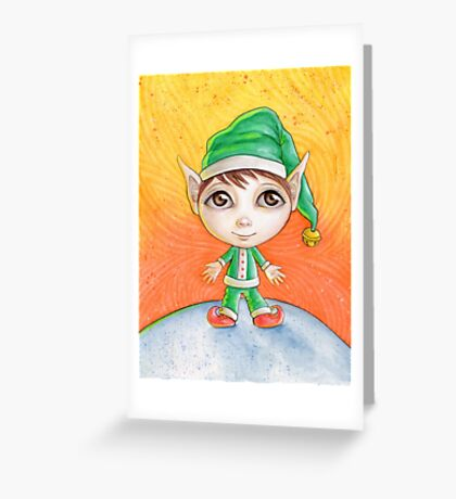 Holiday Elf Greeting Card
