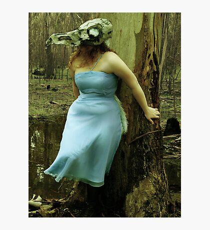The bird skull mask Photographic Print