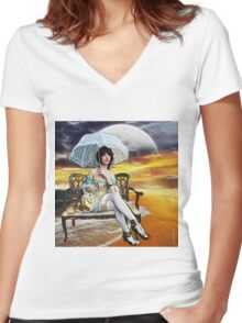 PARASOL UTOPIA Women's Fitted V-Neck T-Shirt