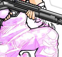 Angel with a Shotgun v2 Sticker