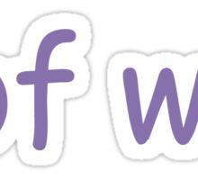 wof wof Sticker