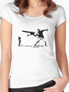 Yank and Banksy Women's Fitted Scoop T-Shirt