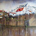Across The Beck, Staithes by Sue Nichol