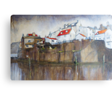 Across The Beck, Staithes Metal Print