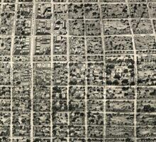 Panoramic Maps Aero-view of Tallahassee 1926 Sticker