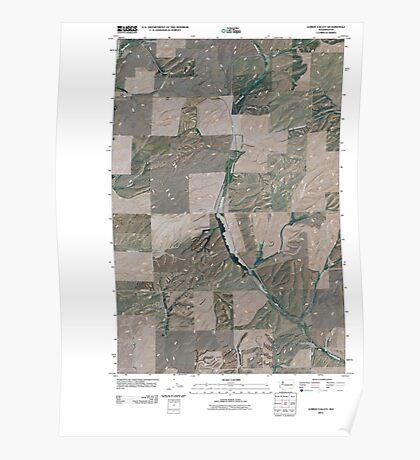 USGS Topo Map Washington State WA Lords Valley 20110401 TM Poster