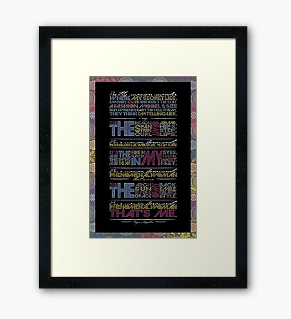 Phenomenal Woman By Maya Angelou - Typographic Poster Framed Print