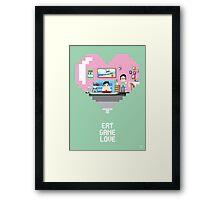 Eat Game Love Framed Print