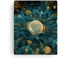 ASTEROID LANDING ON TITAN Canvas Print