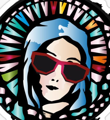Church window-Mother Mary Sticker