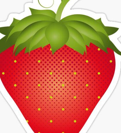 A strawberry Sticker