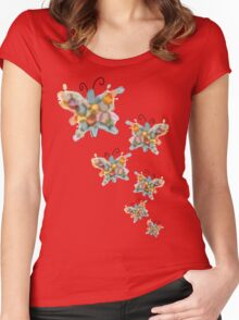 butterfly explosion Women's Fitted Scoop T-Shirt