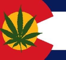 Colorado Greens Flag Sticker