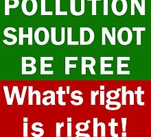 POLLUTION SHOULD NOT BE FREE by gnuber