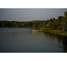 Canoe on lake Photographic Print