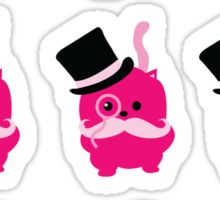 Moustaches, Monocles and Meows- A Page of Tiny Stickers Sticker