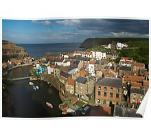 Staithes, North Yorks Coat Poster