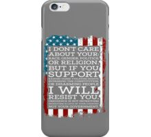 Get This Straight, Don't Tread On Me iPhone Case/Skin