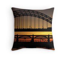 Tyne Bridge at Sunset Throw Pillow