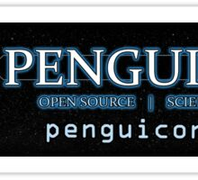 Penguicon's small bumper sticker Sticker