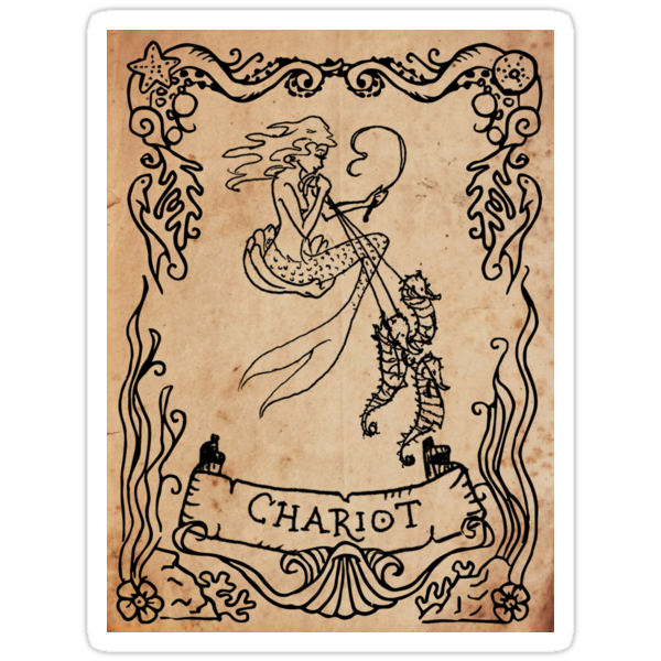 Mermaid Tarot Sticker: Chariot by SophieJewel