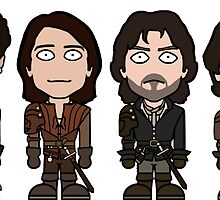 The Musketeers (sticker) by redscharlach