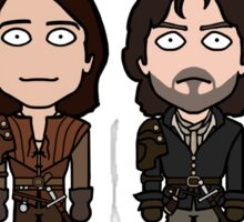 The Musketeers (sticker) Sticker