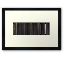 Moviebarcode: Scott Pilgrim vs. the World (2010) Framed Print