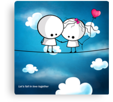 Let`s fall in love together Canvas Print