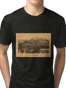Panoramic Maps Housatonic Mass Tri-blend T-Shirt
