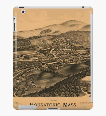 Panoramic Maps Housatonic Mass iPad Case/Skin
