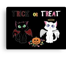 Trick or Treat Kittens Canvas Print