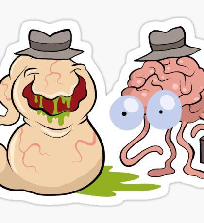 Brains and Guts Sticker