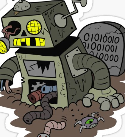 Zombie Robot Sticker