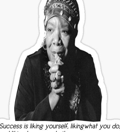Maya Angelou Sticker