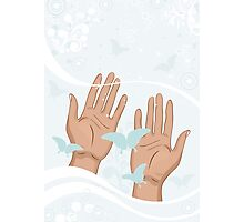 beautiful female hands Photographic Print