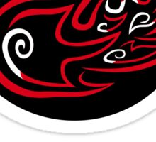 Red Mana: Fiery Beatdown sticker Sticker
