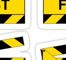 On Set - SAFETY FIRST!  (4 stickers) Sticker