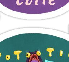 Cutie Potootie Stickers Sticker