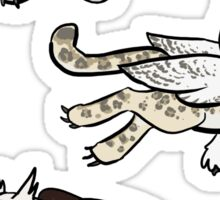 assorted gryphons Sticker