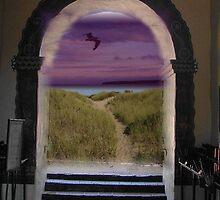 The Moon says Hello by Joni  Rae