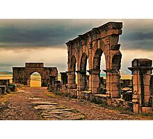 Morocco. Volubilis. Main Road. Photographic Print