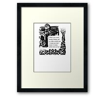 Humpty Dumpty - Through the looking glass Framed Print