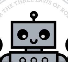 I Majored in Robot Law Sticker