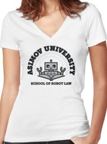 I Majored in Robot Law Women's Fitted V-Neck T-Shirt