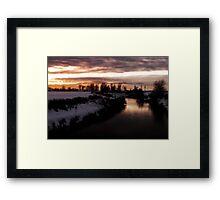 Colville River of January  Framed Print