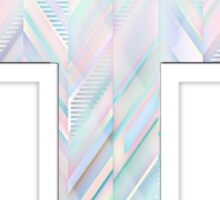 Pastel Peaked Cross Sticker
